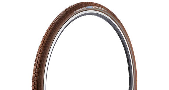 "SCHWALBE Little Big Ben dæk Active 28"" Twin trådkant brun"